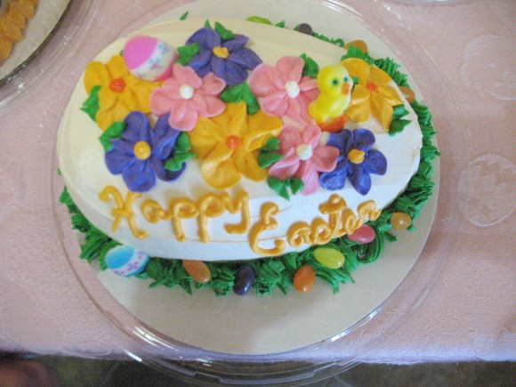 Buttercream Easter Egg with Spring Flowers