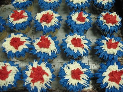 Firework Cupcakes 1