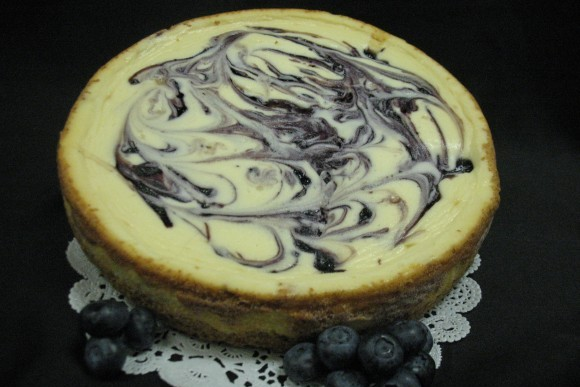Blueberry Swirl Cheesecake 1