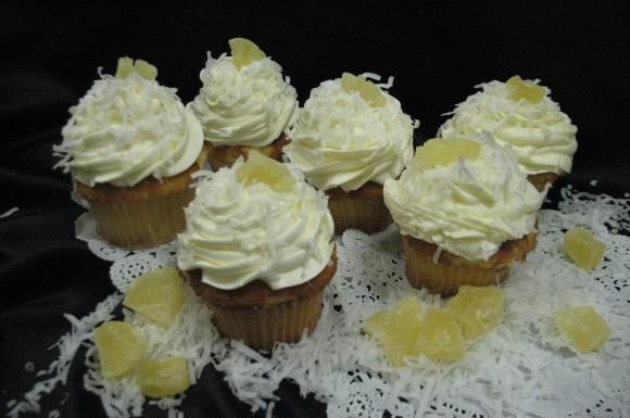 Pina Colada Gourmet Cupcake