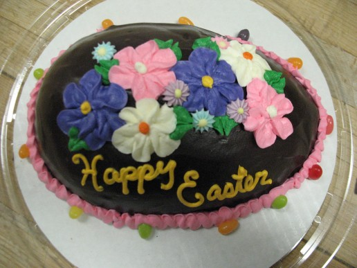 Ganache Easter Egg with Spring Flowers 1