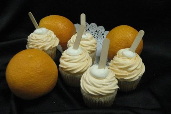 Orange Dreamsicle Gourmet Cupcake 1
