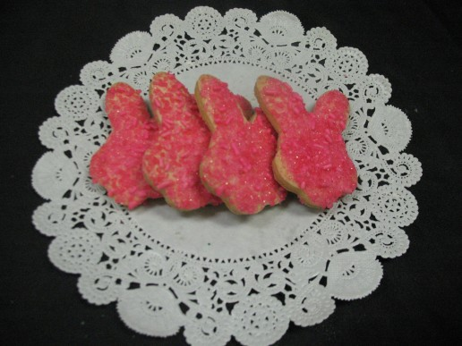 Sugared Bunny Cut-Out Cookies