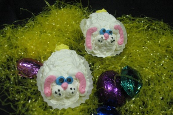 Lopped Ear Bunny Cupcake