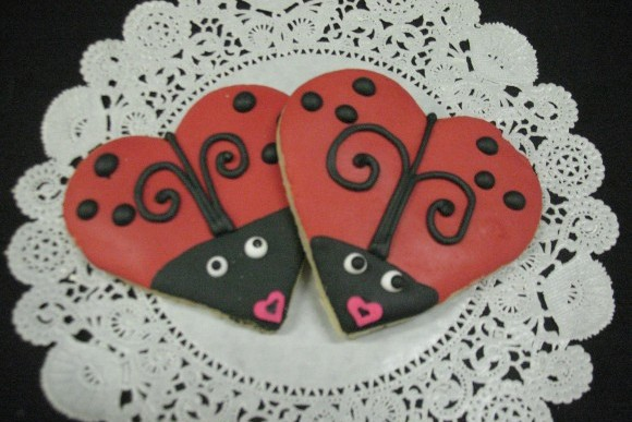Lady Love Bug Hand Decorated Cut-Out Cookies