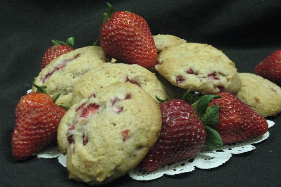 Fresh Strawberry Drop Cookies