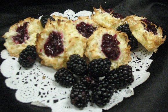 Blackberry Coconut Thumbprints