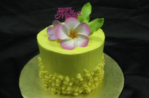 4″ Mother's Day Gum Paste Flower Cake 1