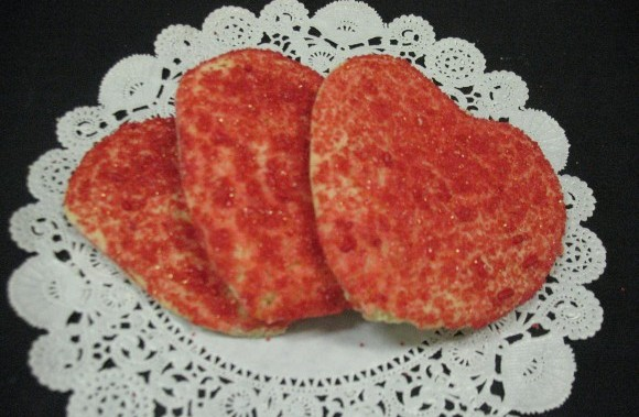 Sugared Heart Cut Out Cookies