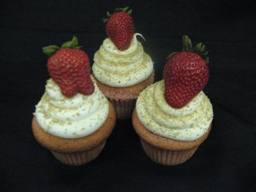 Strawberry Cheesecake Gourmet Cupcake