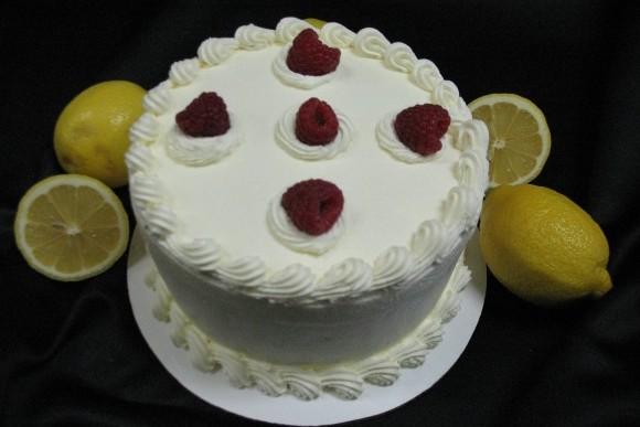 Lemon Raspberry Torte