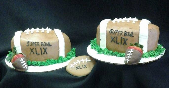 Super Bowl Football Cake 1