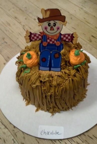 Scarecrow Haystack Cake