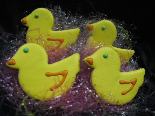 Hand Decorated Iced Ducky Cookie