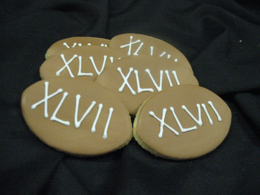Superbowl Football Cut-Out Cookies