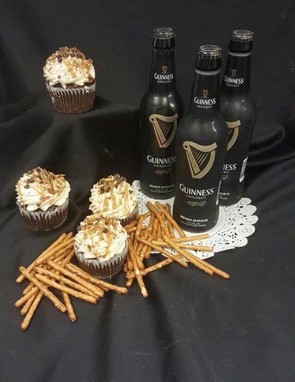 Beer & Pretzel Gourmet Cupcakes