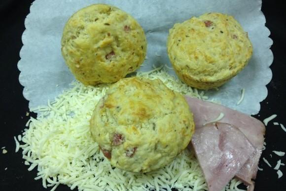 Ham Swiss and Rye Lunch Muffin 1
