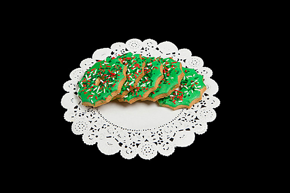 Hand Iced Wreath Cut-Out Cookie