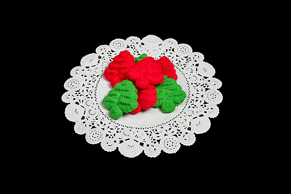 Red and Green Sprtiz Cookies