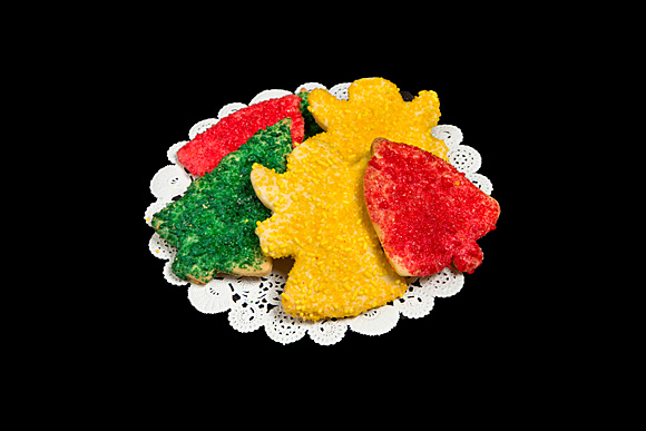 Large Sugared Holiday Cut-Out Cookies