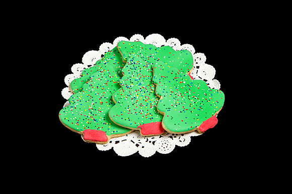 Hand Decorated Iced Christmas Tree Cookie