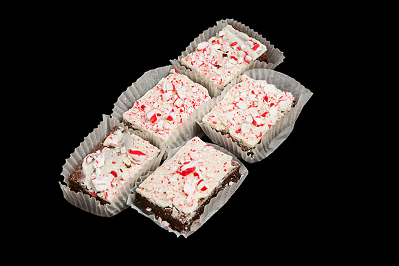 White Chocolate Peppermint Brownie