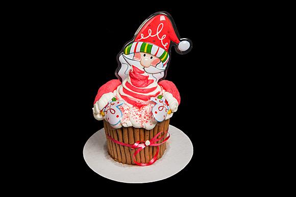 Large Santa Claus Cupcake