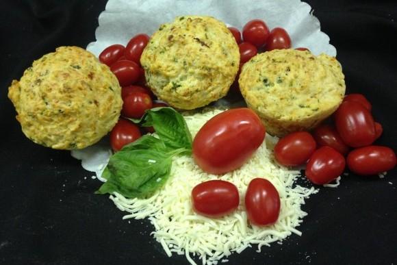 Fresh Tomato Basil and Mozzarella Lunch Muffin