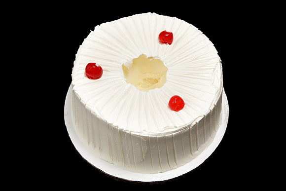 Iced Angel Food Cake