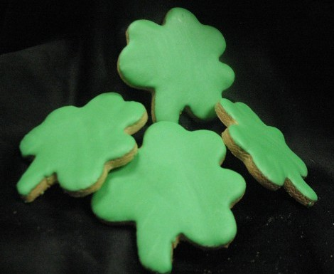 Shamrock Cut-Out Cookie