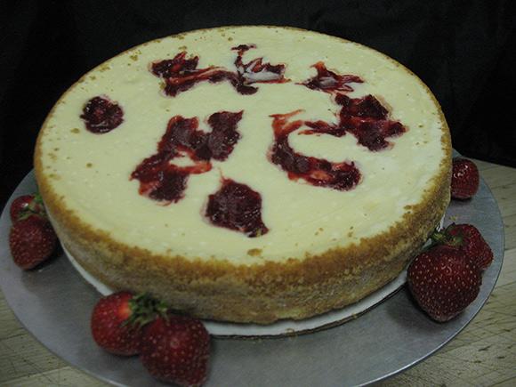 Strawberry Swirl Cheesecake 1