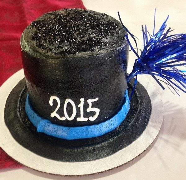 New Year's Top Hat Cake 1
