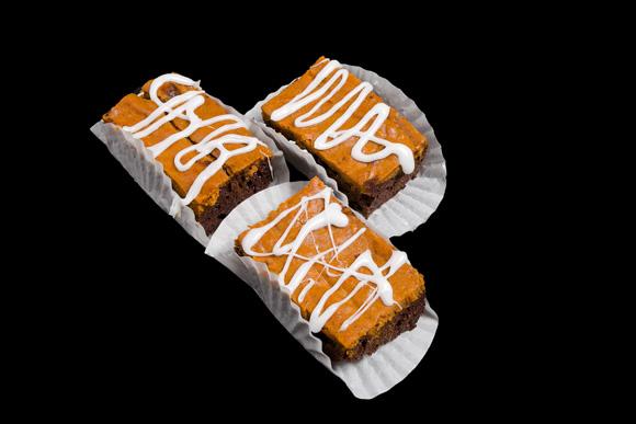 Gourmet Pumpkin Swirl Brownie