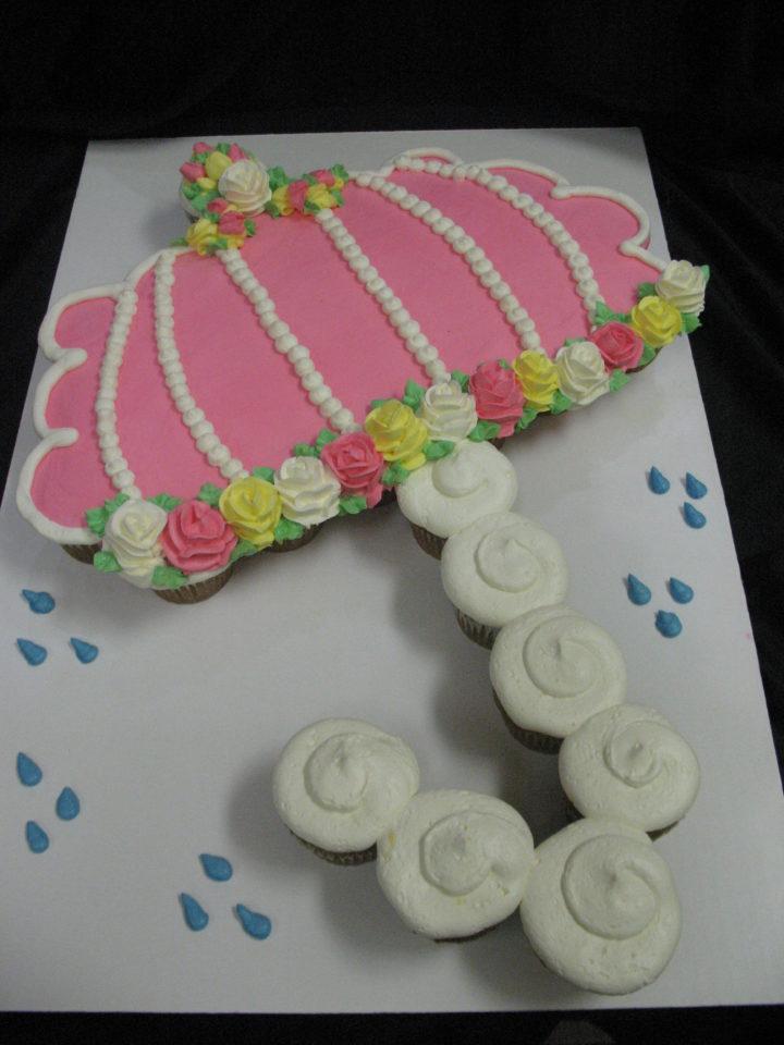 Super Baby Shower Umbrella Cupcake Cake - Grandma's Country Oven QX-97