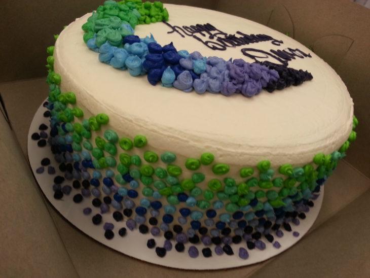 colorful dot cake