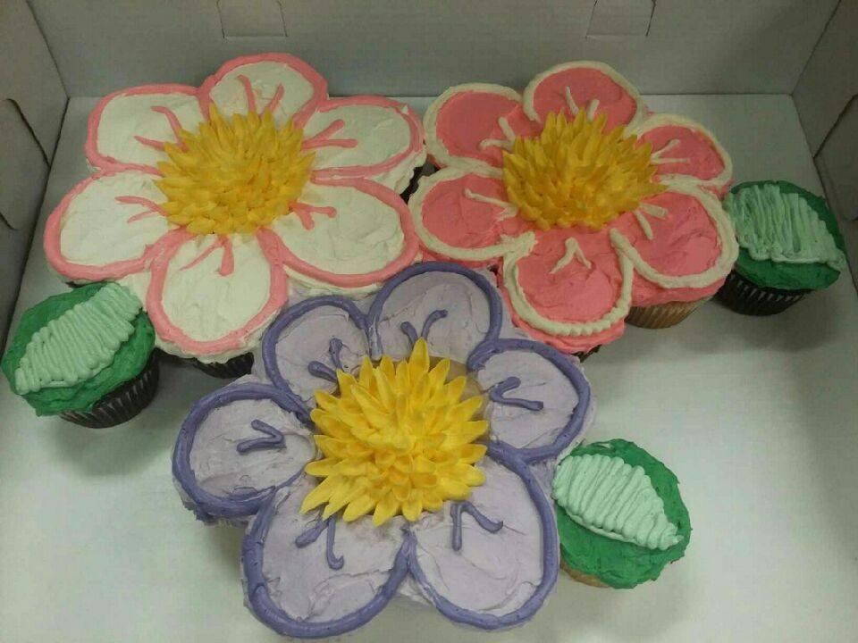 Flowers Cupcake Cake Grandmas Country Oven Bake Shoppe