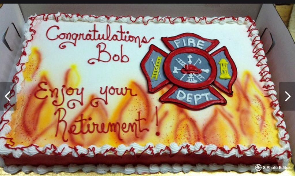 Fireman Retirement Cake Grandma S Country Oven Bake Shoppe