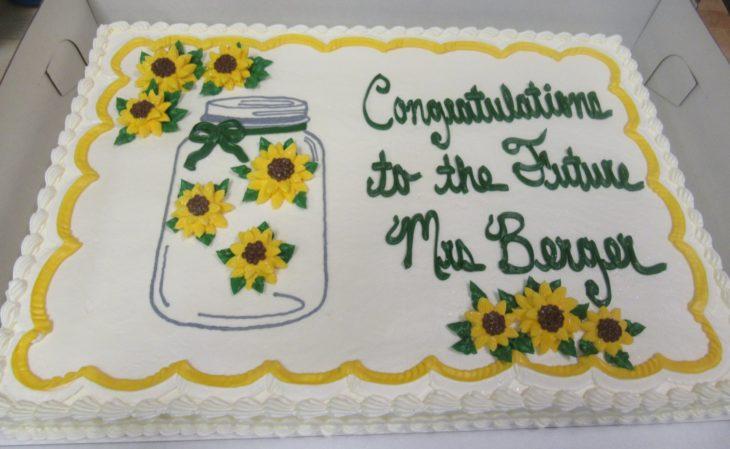 sunflower bridal shower cake