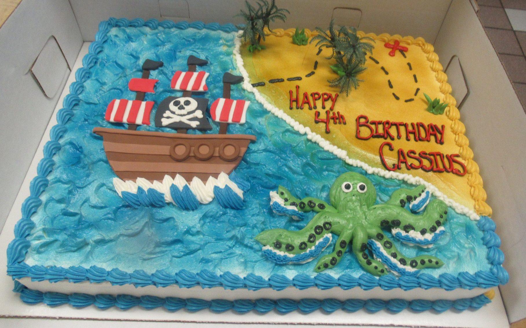 Astounding Pirate Ship Cake Grandmas Country Oven Bake Shoppe Funny Birthday Cards Online Inifofree Goldxyz