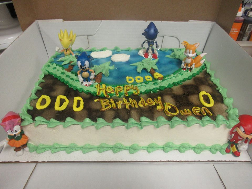 Admirable Sonic Birthday Cake Grandmas Country Oven Bake Shoppe Funny Birthday Cards Online Alyptdamsfinfo